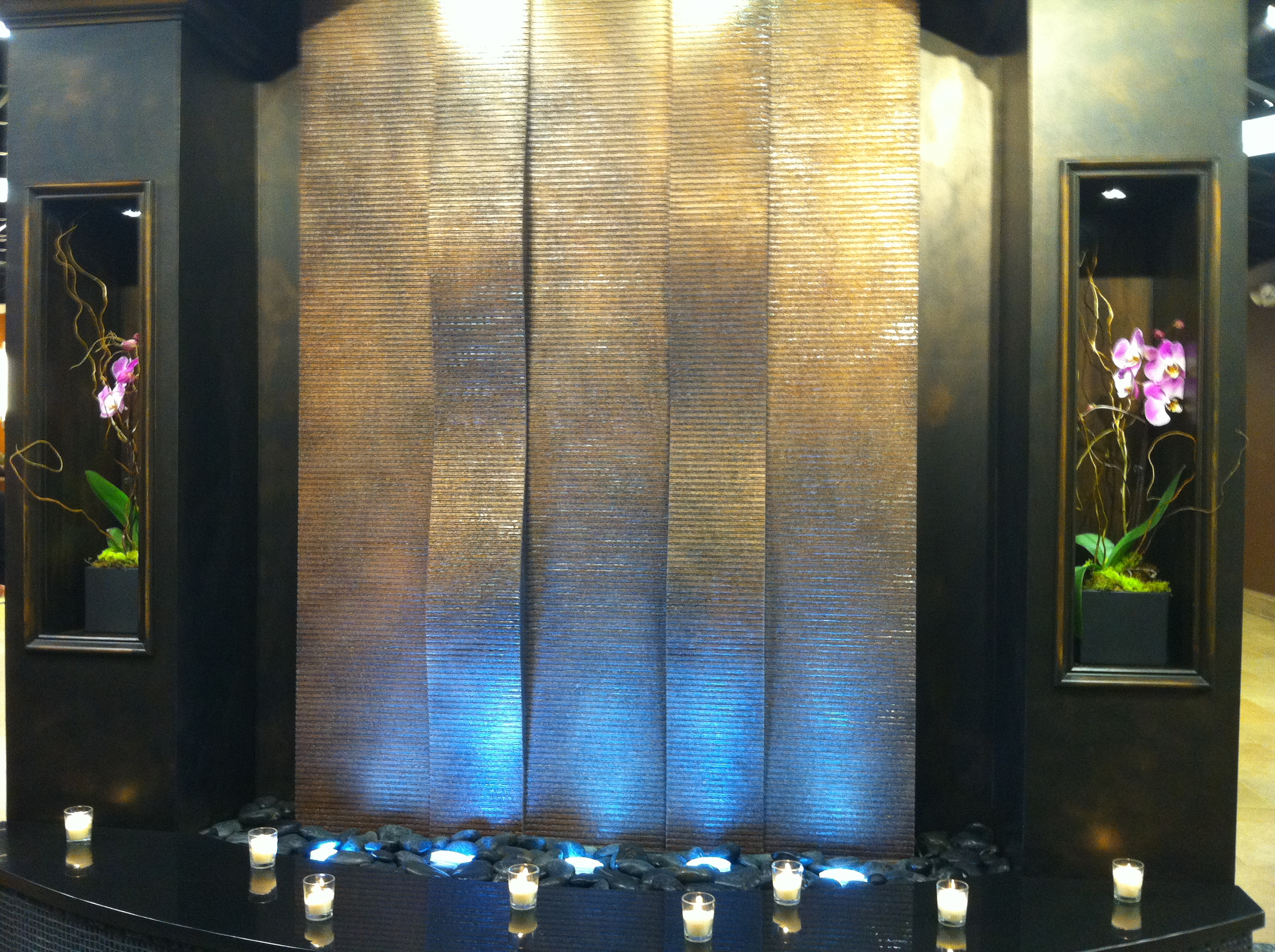 Aquafall Water Walls Indoor Water Wall Fountains by Midwest Tropical