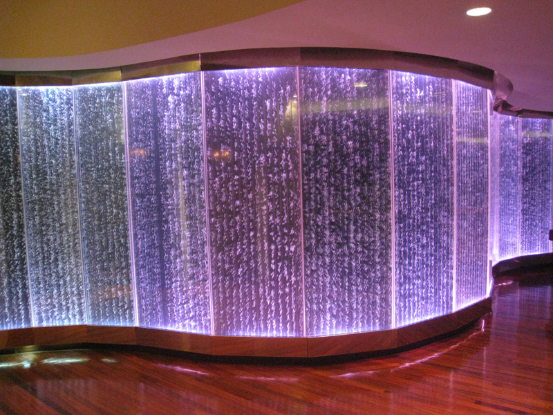 Waterpanel Bubble Walls: Indoor Water Wall Fountains by Midwest Tropical